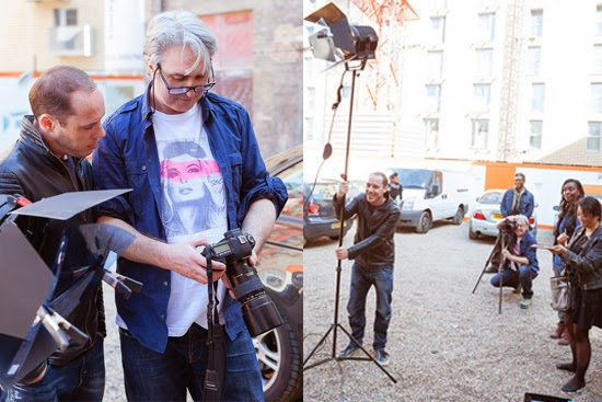 behind the scene with famous portrait photographer